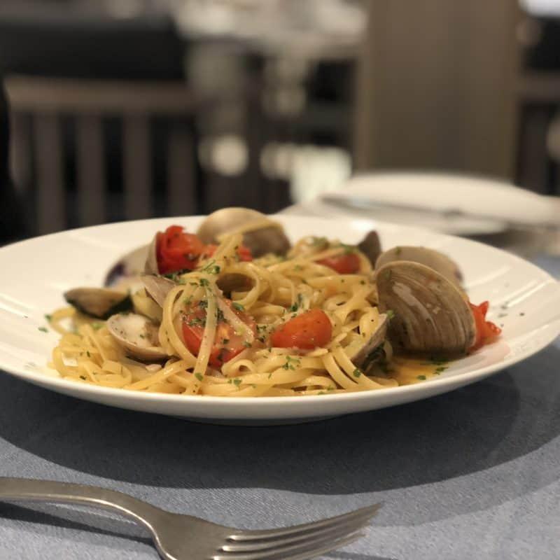 clam dish from ocean cay restaurant on msc seaside