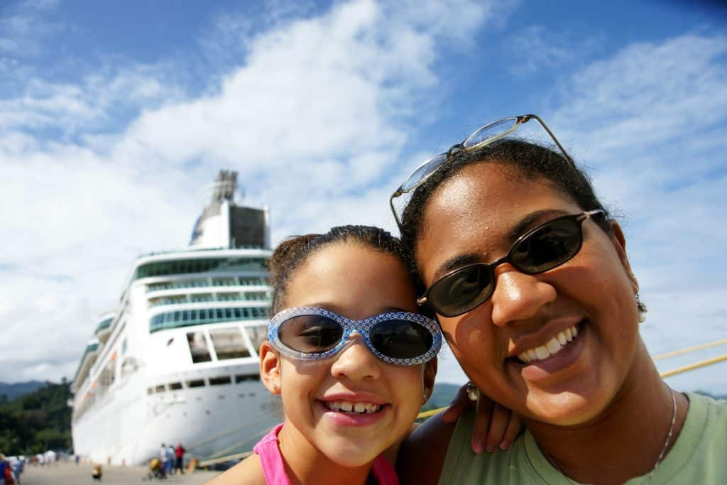 Family on Cruise Ship. Cruises for kids.